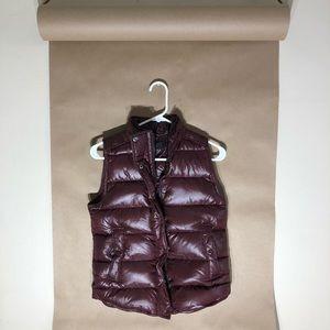 J crew burgundy puffer vest